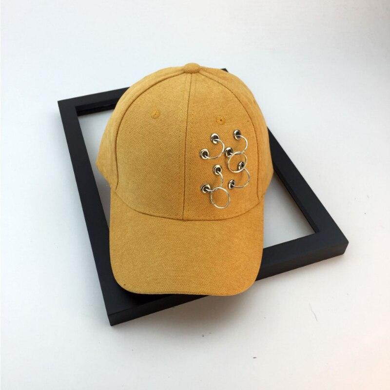 men women snapback caps casquette gorras baseball cap unisex solid Ring Safety Pin curved hats baseball cap
