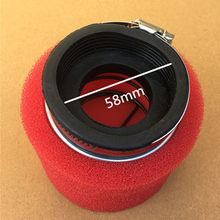 Foam Air Filter Straight 58MM For ATV Quad Dirt Pit Bike Racing Motorcycle Scooter