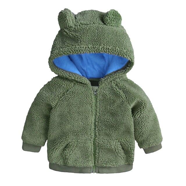 Winter Warm Baby Jas Dikke Fleece Pasgeboren Baby Jas Baby Meisje Kleding Solid Jongens Baby Uitloper Peuter Kleding Kids Kostuum 1
