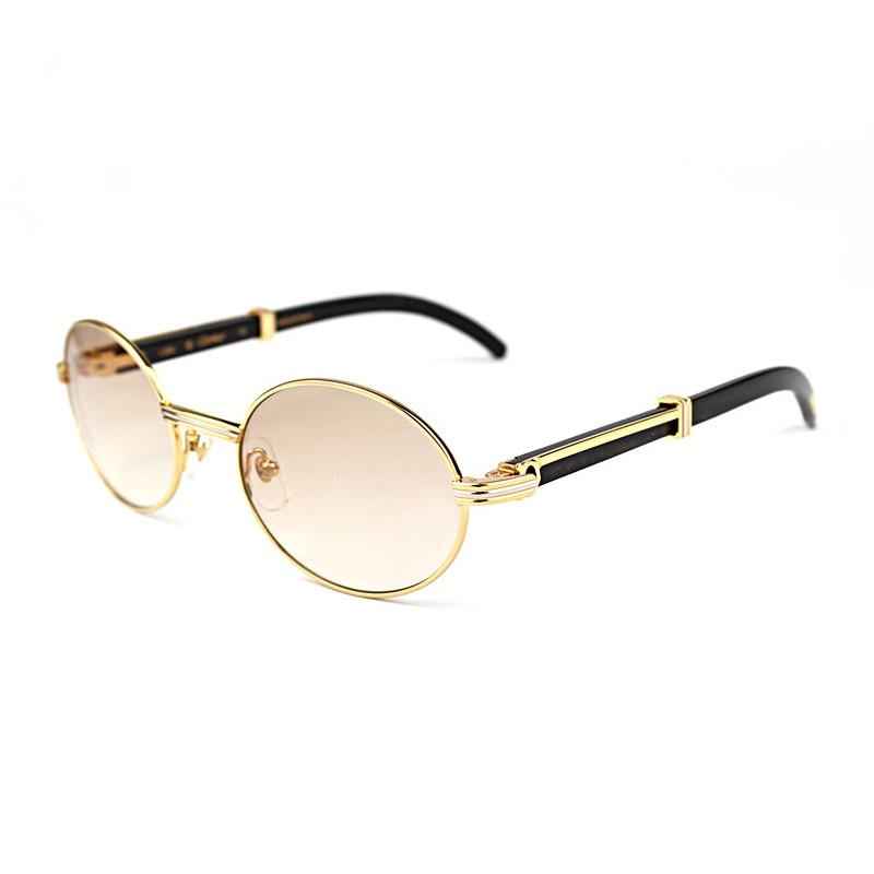 Reliable And Wholesale Nature Buffalo Horn Carter Sunglasses Women Sunglass Brand Full Frame Metal Sun Glasses For Men