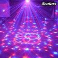24 Вт звуковой контроль сценический светильник 8 цветов 110-220 В 14 + 3 режима светодиодный Магическая хрустальная лампа-шар DMX ДИСКО светильник Л...