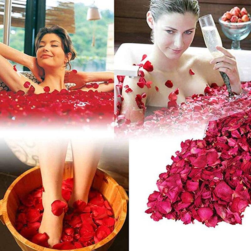 200g Dry Rose Petal Natural Flower Spa Bath Relieve Fragrant Body Massager Dry Rose Petal Spa Bath Relieve Fragrant