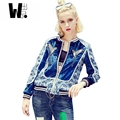 2017 new original fashion design new women's Embroidery jacket autumn dresses big coats short Baseball Jacket