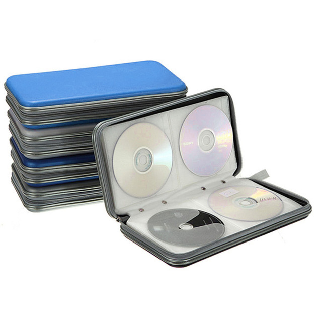 80 Disc CD DVD Carry Case Wallet Storage Holder Bag Hard Box DJ Storage  Cover Box