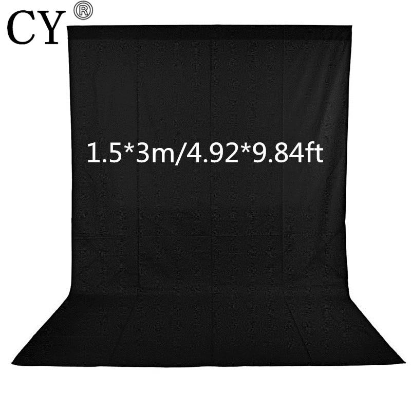 CY 1.5x3m Photography Backdrops Black Screen Photo Background Non-woven Fabrics Backgrounds For Photo Studio Fotografia