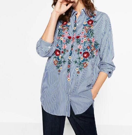 Slikovni rezultat za striped embroidered blouse