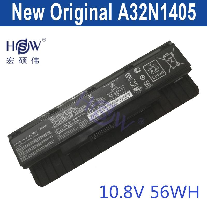 HSW New laptop battery A32N1405 10.8V 56WH For Asus G551 G551J G551JK G551JM G771 G771J G771JK N551J N551JW N551JM N551Z N551ZU битоков арт блок z 551