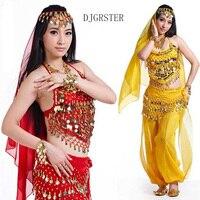 DJGRSTER New Arrival 2017 Belly Dancing Oriental Dance Costumes Sequined Bra Top Beaded Fringe Bellydance Costume