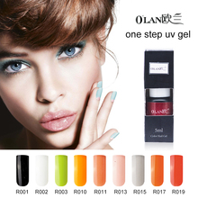 Olan 1 pieces lot long lasting one step gel nail polish 3 in 1 gel varnishes