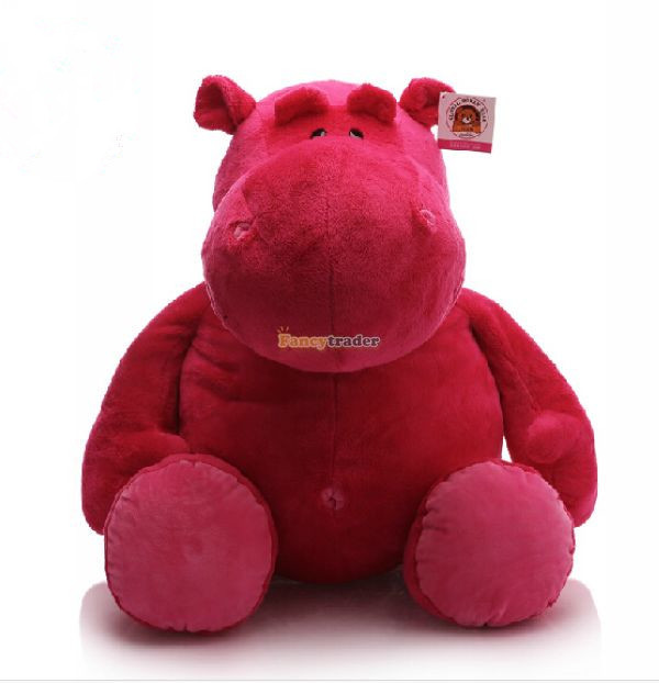 Fancytrader High Quality! 31'' / 80cm Lovely Giant Stuffed Plush Hippo Toy. 2 Colors Available! Free Shipping FT50297 fancytrader huge 31 lovely soft animal hippo plush toy giant 80cm stuffed cartoon hippopotamus doll pillow kids gift