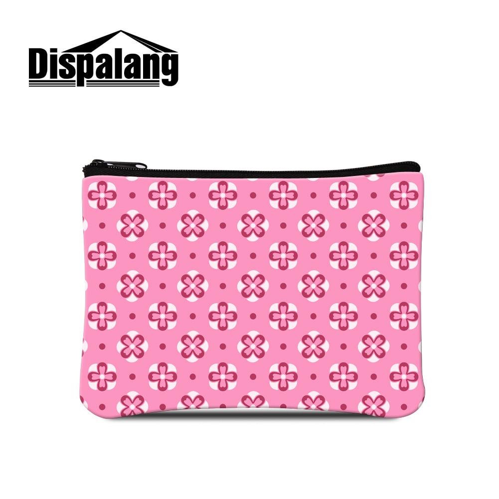 59ec86846be8c Dispalang 3d baskı geometrik kızlar küçük makyaj kılıfı için sevimli sikke çanta  çanta kadın taşınabilir cüzdan bayan değişikliği çanta perakende