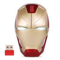 Fanshu Wireless Mouse Iron Man 2.4 G Portable Mobile Computer Mouse Gaming Mice Mause with USB Receiver 800/1200/1600 / 2400DPI