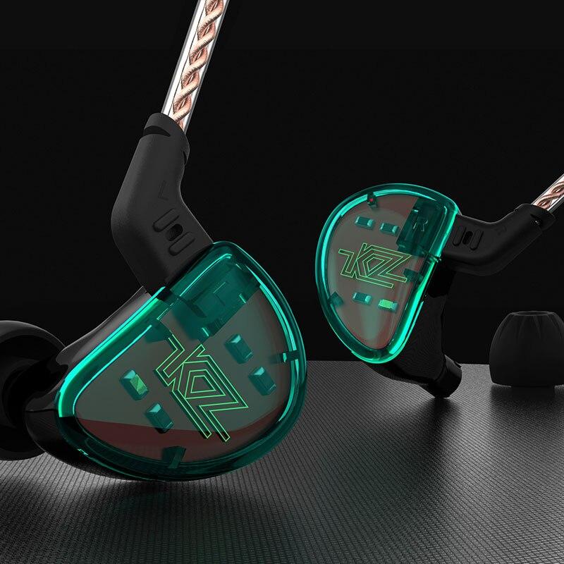 KZ AS10 5BA armadura equilibrada conductor HIFI Bass auriculares HiFi teléfono móvil Monitor de deportes en la oreja los auriculares - 5