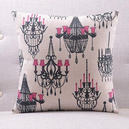 Розовая люстра подушки люстра с покрытием чехлы на подушки 45х45см наволочка 30X50 см домашний Спальня диван кровать украшения - Цвет: 7