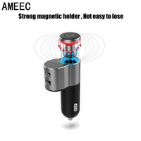 AMEEC Wholesale 5pcs 10pcs Bluetooth Car Mobile Phone Charger For Car Auto Cell Phone Car Charge