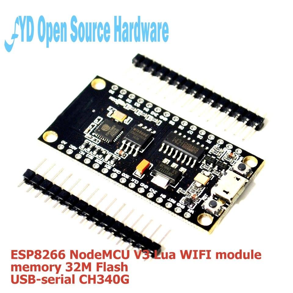 1 шт. esp8266 nodemcu V3 Lua WI-FI модуль памяти 32 м флэш-памяти + USB последовательной ch340g