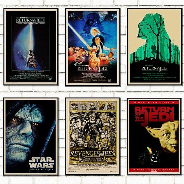 Vintage Star Wars плакат ретро Art Classic дом украшен фильм возвращение джедая Звездные войны kraft плакаты стены /5008
