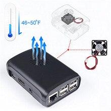 SunFounder Премиум Черный Корпус ABS для Raspberry Pi 3,2 Модель B и Raspberry Pi 1 Модель B + с Внешним вентилятор