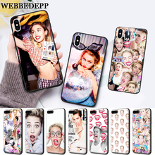 WEBBEDEPP Miley Cyrus Soft Rubber Silicone soft Case for iPhone 5 SE 5S 6 6S Plus 7 8 11 Pro X XS Max XR