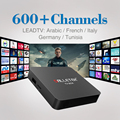 S905X Amlogic Quad Core Android 6.0 TV Box 1G/8G 2.4 Ghz Wifi Set Top Árabe IPTV Caja con Suscripción Gratuita Europa Italia Francés