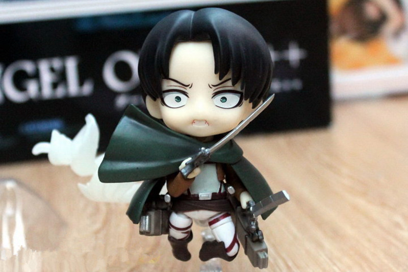 Image 4 - Japan Anime Action Figure Game Attack on Titan Levi Ackerman 390# 10cm PVC Model Collection Q Version Cute Toys Doll Brand Newattack on titan leviattack on titanaction figure -