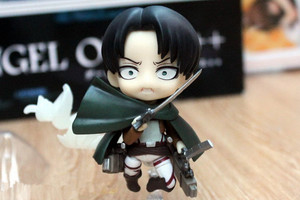 Image 4 - Japan Anime Action Figure Game Attack on Titan Levi Ackerman 390# 10cm PVC Model Collection Q Version Cute Toys Doll Brand New