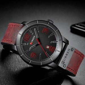 Image 3 - Мужские часы 2019 CURREN Мужские кварцевые наручные часы мужские часы лучший бренд роскошные кожаные Наручные часы с календарем