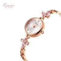 KIMIO Women Bracelet Watches Luxury Fine Stainless Steel Ladies Watch Rose Gold & silver Color Dress Wristwatch bayan kol saati