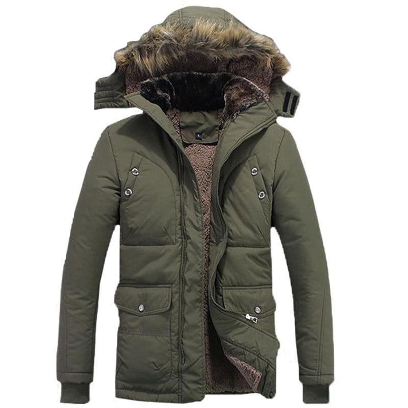 2016 zimska jakna za muškarce plus veličina M-4XL topla debela runo - Muška odjeća - Foto 3