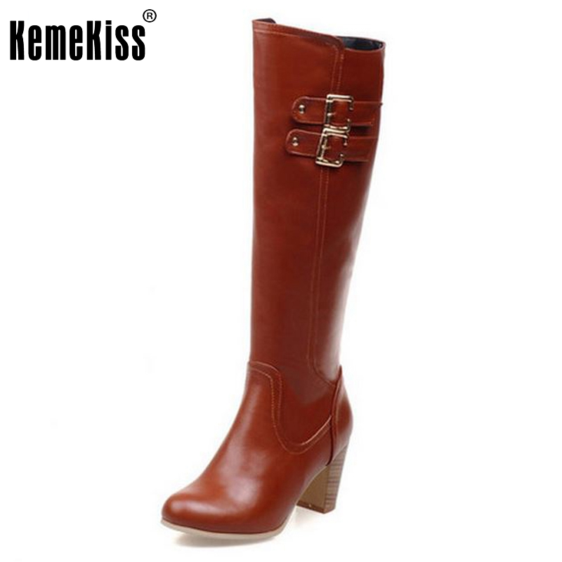 Size 31-48 Women High Heel Over Knee Boots Fashion Winter Warm Riding Long Boot Round Toe Quality Footwear Heels Shoes winter boots women black breathable comfortable round toe warm velvet high heeled shoes knee high red boot 44 43 plus large size