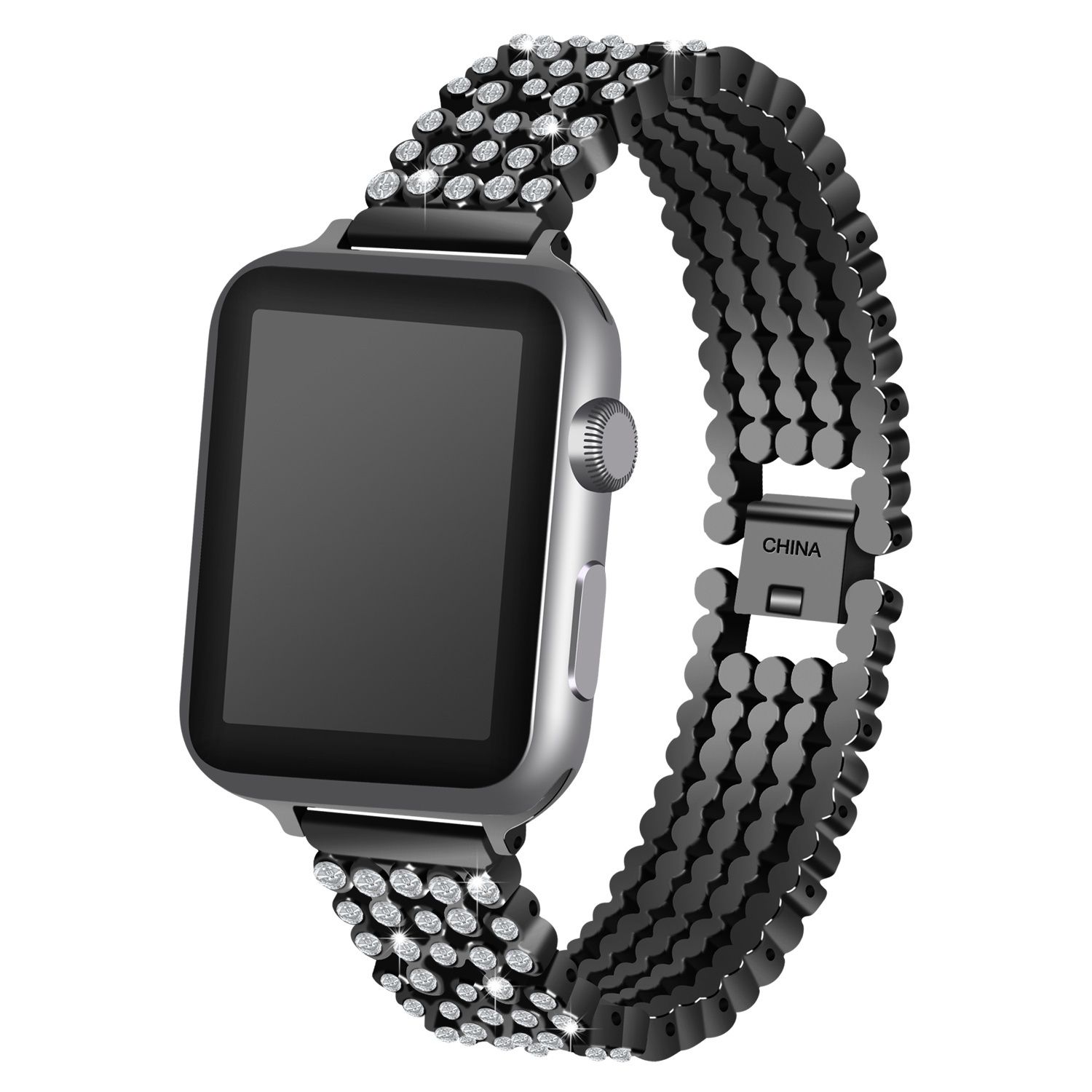 Image 2 - Crystal Diamond strap for Apple Watch band 38mm 42mm 40mm 44mm stainless steel Replacement Bands for iWatch series 5 4 3 2 1strap for apple watchreplacement strapstrap for -
