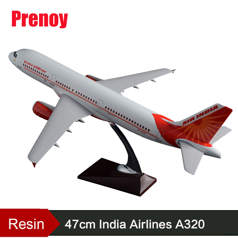 47cm A320 India Airbus Plane Model Air India Resin Airway Airlines A380 Aircraft Model Indian Airplane Aviation Model Toy Gift gjaal1315 geminijets american airlines n725uw 1 400 a319 commercial jetliners plane model hobby