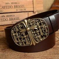 Designer Belts Men High Quality Brand Brass Buckle Genuine Leather Men Belt Ceinture Homme Cinturones Mujer