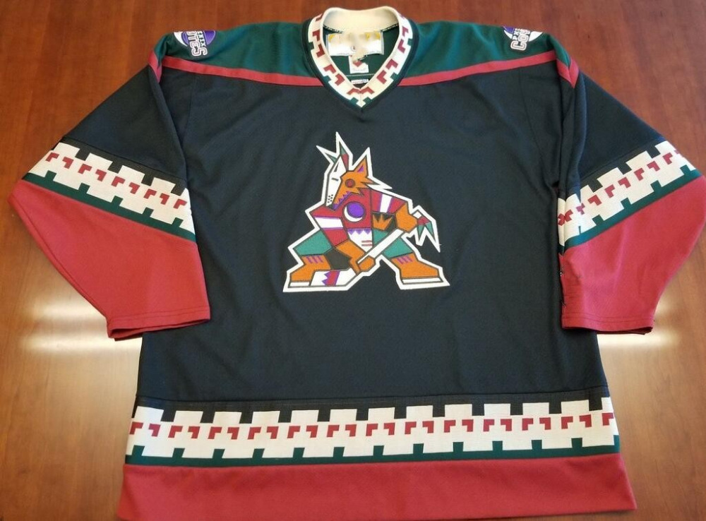 more photos bec83 b1a2a US $39.99 20% OFF|Vintage Phoenix Coyotes Hockey Jersey Embroidery Stitched  Customize any number and name Jerseys-in Hockey Jerseys from Sports & ...