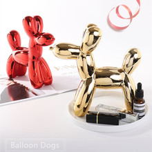 Modern Ceramic Balloon Dog Piggy Box Cute Kids Gift Home Decoration Cash Coin Saving Creative House Money