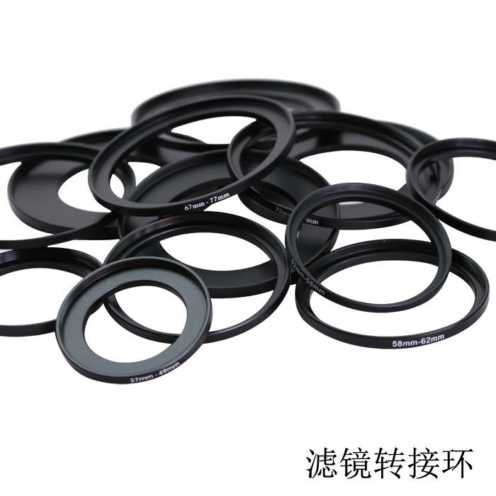 Lens Filter Adapter ring 49mm-52mm 49-52 mm 49 to 52 Step Up Filter Ring Stepping Adapter Adaptor Black