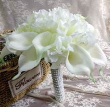 Black Calla Lily Wedding Bouquets White Yellow Accessories Romantic Artificial Bridal Bouquets bouquet de mariage ramos de novia