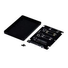 Adaptador avanzado Mini pcie mSATA SSD a SATA3 de 2,5 pulgadas, tarjeta adaptadora con funda 2018, 1 unidad