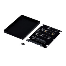 advanced adapter Mini pcie mSATA SSD To 2.5Inch SATA3 Adapter Card With Case 2018 1PC