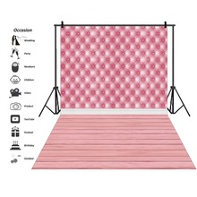 Headboard Surface Diamond Pattern Leather Wooden Floor Baby Party Portrait Photo Backgrounds Photographic Backdrops Studio