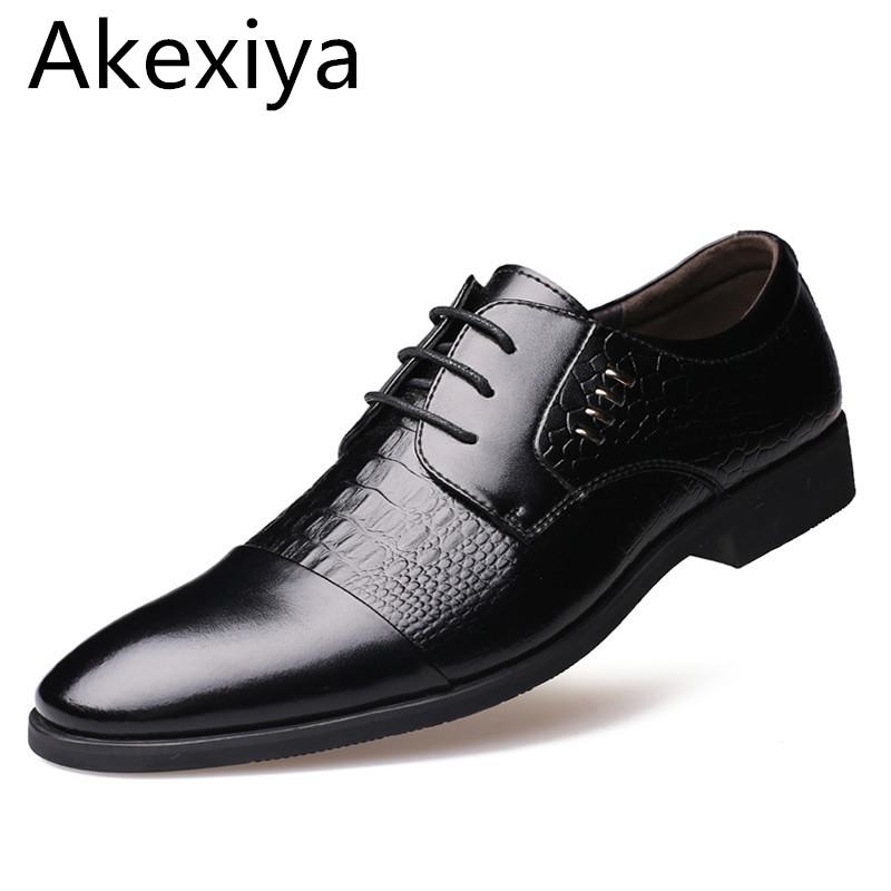 Avocado Store Akexiya 2017 Genuine Leather Men Oxford Shoes, Lace-Up Business Men Shoes,  High Quality Men Dress Shoes Men Flats