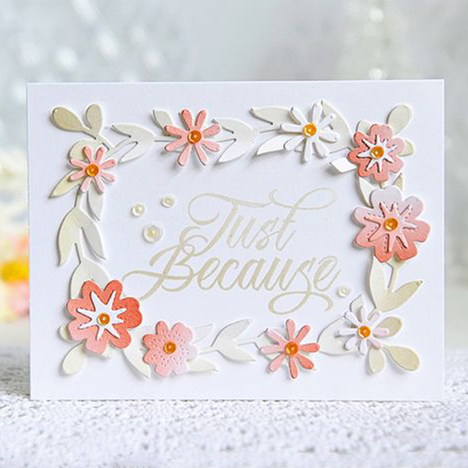 Eastshape Floral Metal Cutting Dies Scrapbooking Craft Paper Stencil DIY Cards Making Background Decorative New 2019 Dies Cut in Cutting Dies from Home Garden