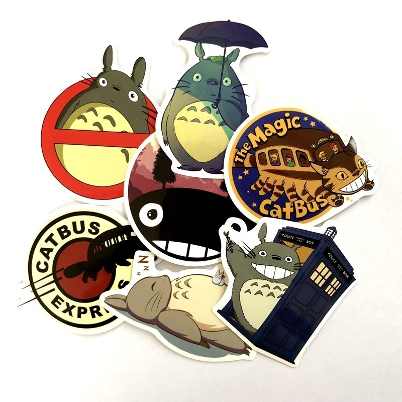 7 Pcs/set Cartoon Totoro Sticker Skateboard Sticker Laptop Snowboard Car Fridge Surf Vinyl Decal 2019