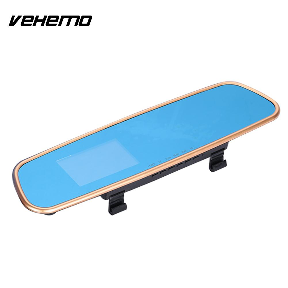 VEHEMO 5MP Wide Angle Car Windshield Vehicle Driving Recorder Car Dash Cam DV Camcorder Night Vision Video Recorder Rearview