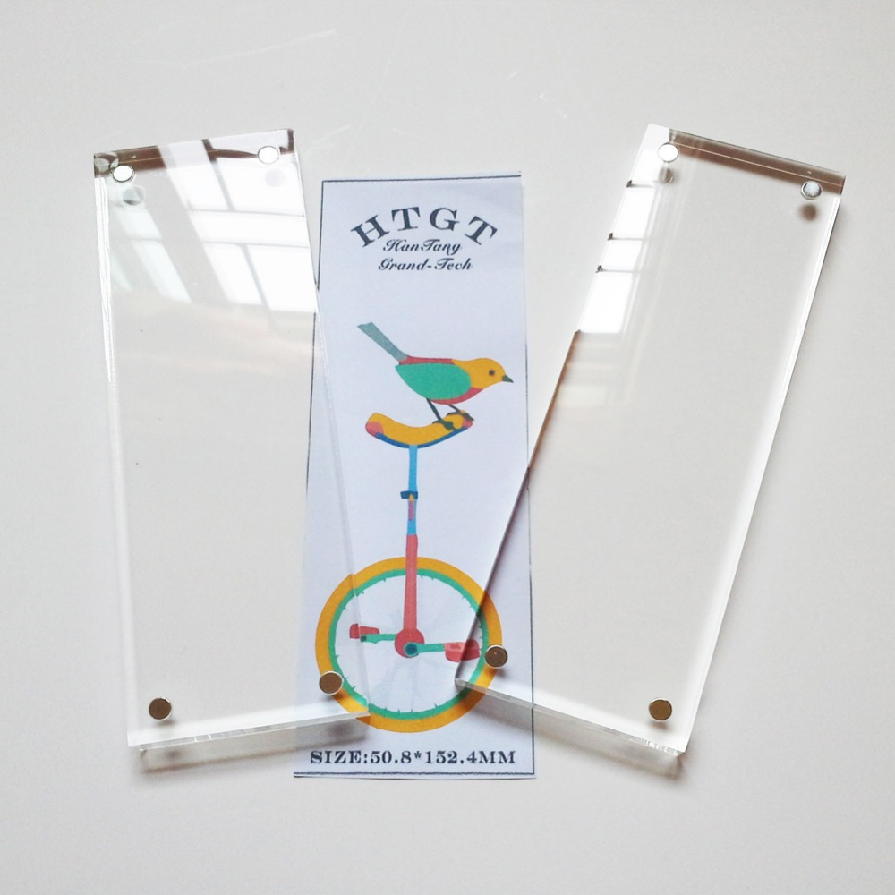 26inch clear acrylic photo frame with magnets