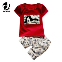 Kid Boys Clothing Sets 2017 Summer Kids Clothes For Boys Fashion T Shirt Pants 2 Pcs