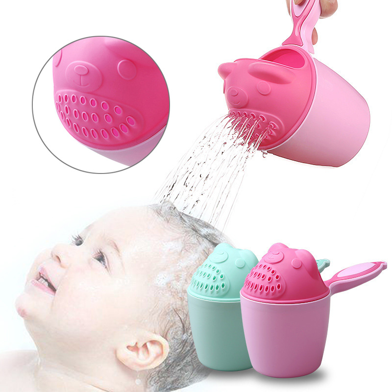 Baby Spoon Shower Bath Water Swimming Bailer Shampoo Cup Children Bath Accessories YH-17 image