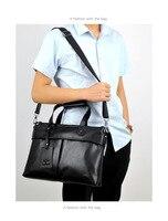TIANHONGDAISHU briefcase male business handbag soft leather cross section men's bag shoulder Messenger bag men's bag Men's Backpacks