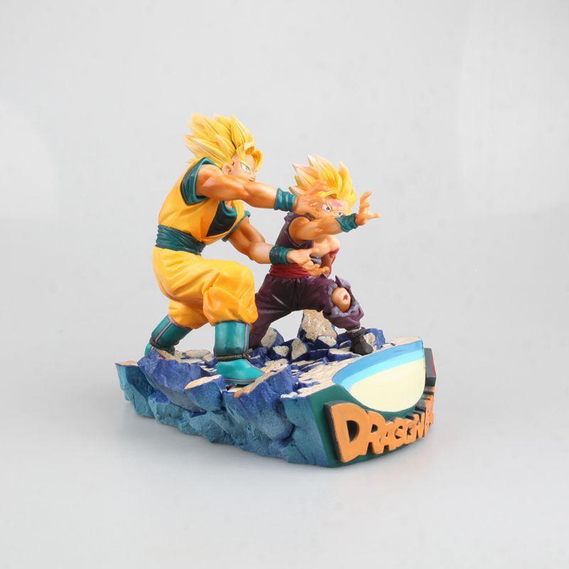 HKXZM Anime 17 CM Dragon Ball Z Super Saiyan fils Goku & Gohan père et fils Kamehameha PVC Figure de collection modèle jouet cadeau - 4