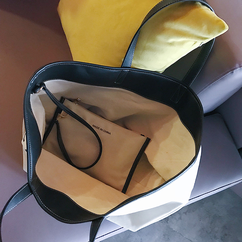 New Fashion Designer Handbags Famous Brand Shoulder Bags Canvas large capacity simple shopping bag with letter in Shoulder Bags from Luggage Bags
